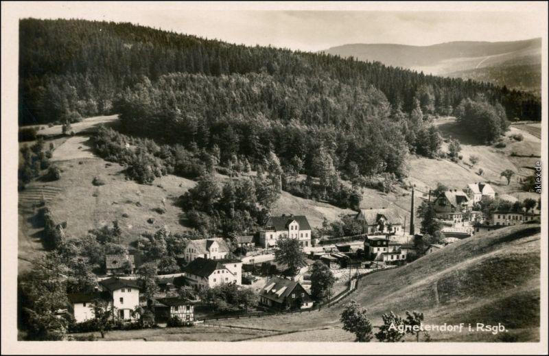 Agnetendorf Hirschberg (Schlesien) Jagniątków Jelenia Góra  Stadt Fabrik 1931