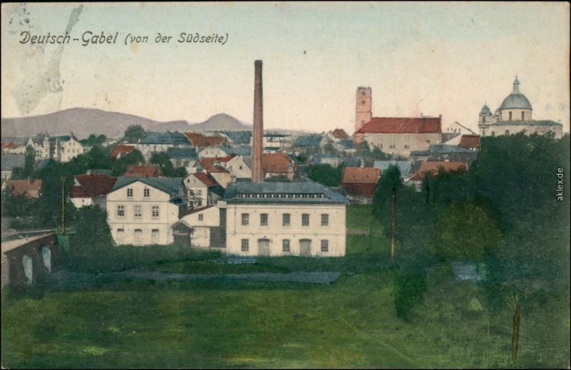 Deutsch Gabel Jablonné v Podještědí Fabrikanlage b Gablonz Liberec 1914
