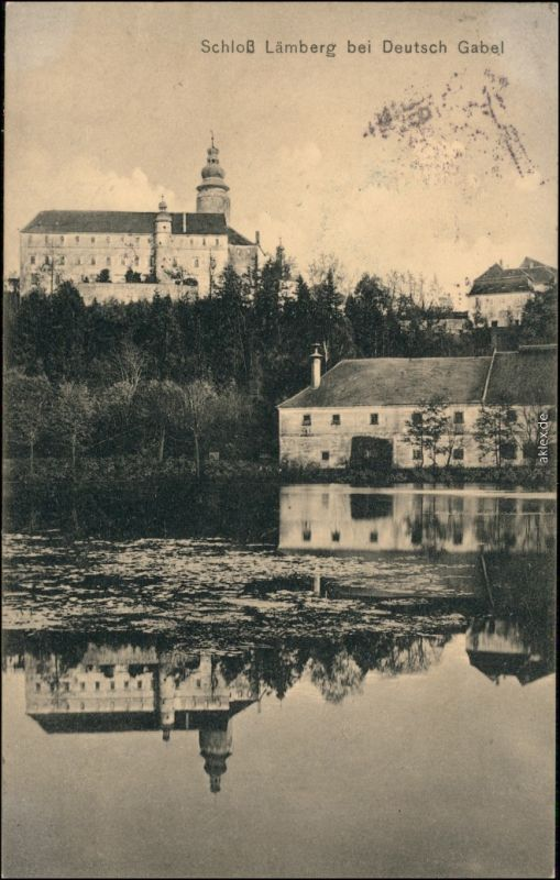Deutsch Gabel Jablonné v Podještědí Haus, Schloß b Gablonz Liberec 1913