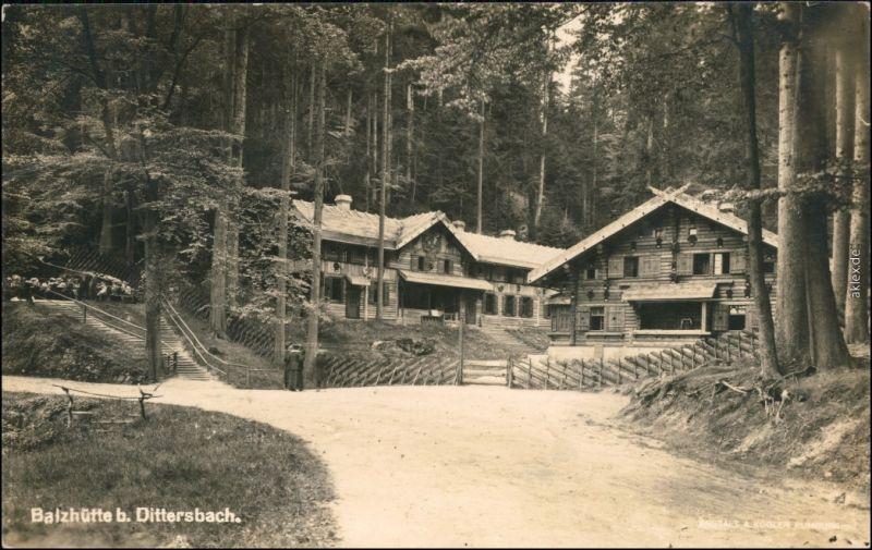 Dittersbach  Jetřichovice Balzhütte, Anlagen  b Tetschen Decin  1929