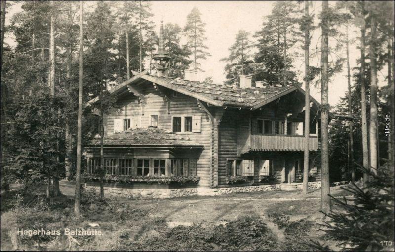 Dittersbach ( Jetřichovice Hagerhaus Balzhütte  b Tetschen Decin 1937