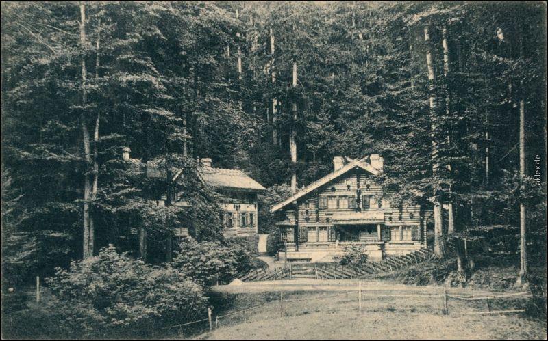 Dittersbach (Böhm. Schweiz) Jetřichovice Balzhütte b Tetschen Decin 1923