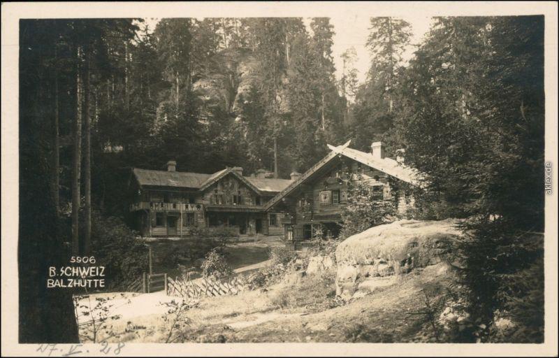 Dittersbach  Jetřichovice Partie an der Balzhütte b Tetschen Decin 1928