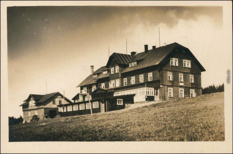 Groß Aupa-Petzer Velká Úpa Pec pod Sněžkou Baude auf dem Fuchsberg 1934
