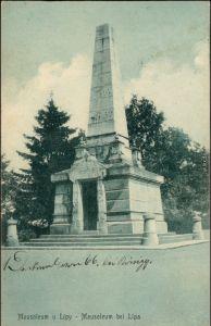 Ansichtskarte Neugarten Zahrádky u České Lípy Mausoleum  b Leipa Liberec 1913