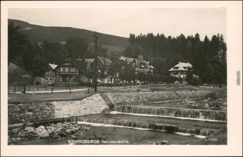 Spindlermühle Špindlerův Mlýn | Spindelmühle Straßenpartie 1930