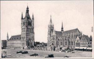 Ansichtskarte Ypern Ieper / Ypres Grand Place Roi Albert - Autos 1935