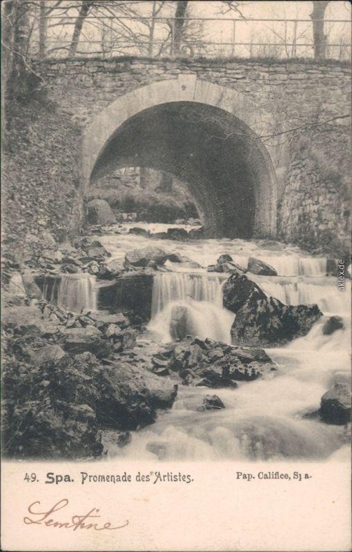 Spa (Stadt) Spa (kêr) (Spå / Spâ) Promenade des Artistes - Brücke 1905