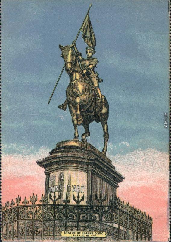 Künstlerkarte: Jeanne d'Arc / Johanna von Orléans Denkmal 1915