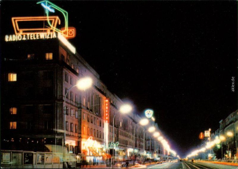 Ansichtskarte Warschau Warszawa Jerozolimskie-Allee/Aleje Jerozolimskie 1975