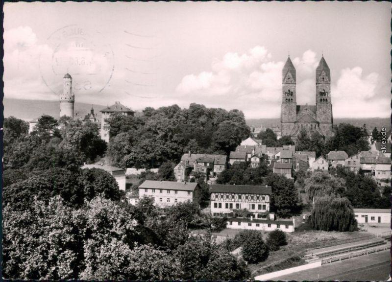 Ansichtskarte Bad Homburg vor der Höhe Schloßturm und Erlöserkirche 1966