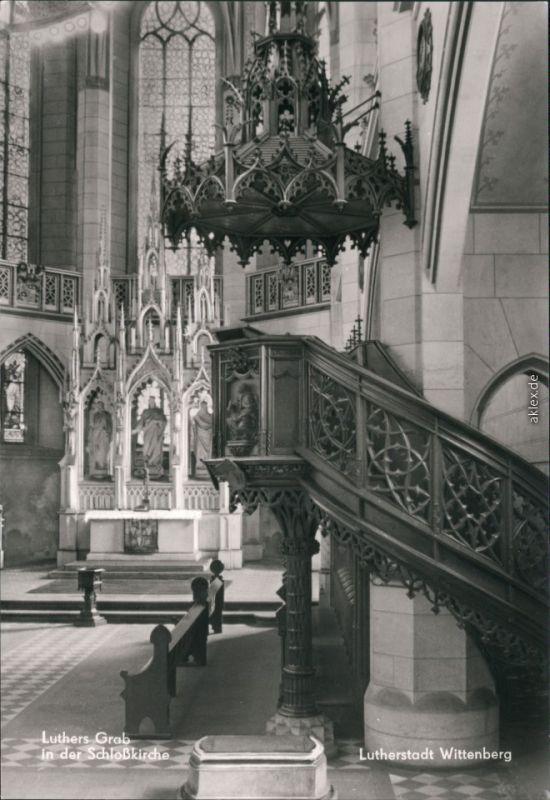 Lutherstadt Wittenberg Evangelische Schloßkirche - Luthers Grab 1983