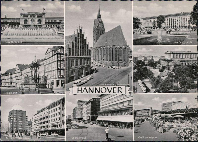 hannover hauptbahnhof holzmarkt georgsplatz georgstra e cafe kr pcke 1961 nr 107374. Black Bedroom Furniture Sets. Home Design Ideas