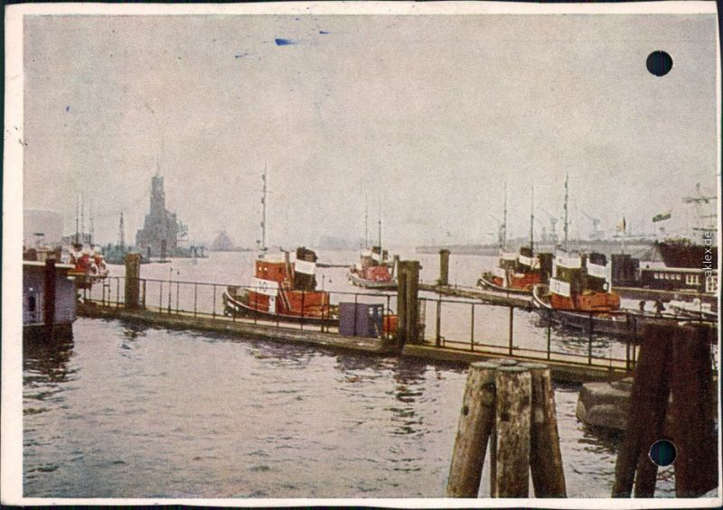 Ansichtskarte Hamburg Hafen 1959