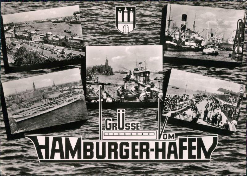 Ansichtskarte Hamburg Hafen 1960