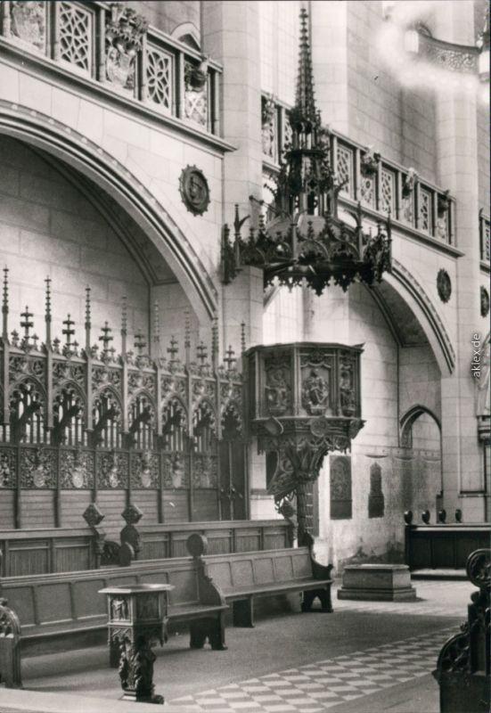 Lutherstadt Wittenberg Evangelische Schloßkirche - Kanzel mit Luthers Grab 1981