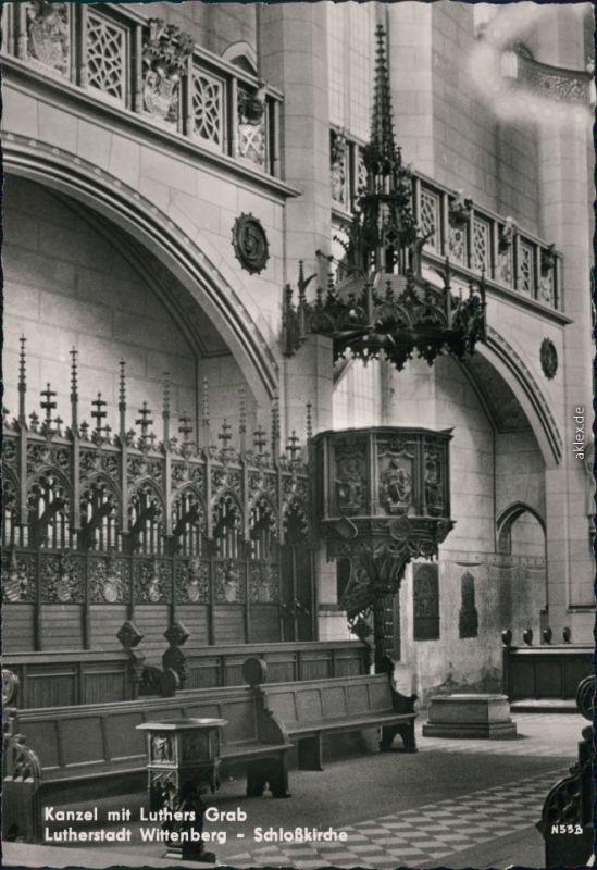 Lutherstadt Wittenberg Evangelische Schloßkirche - Kanzel mit Luthers Grab 1963