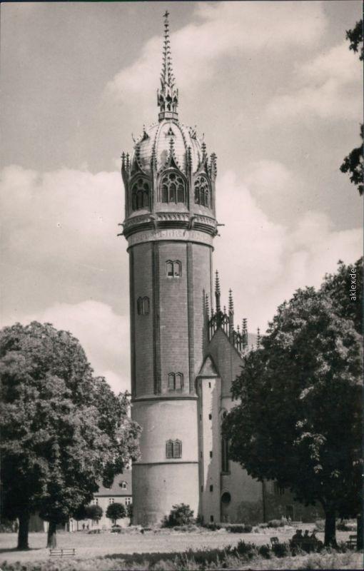 Ansichtskarte Lutherstadt Wittenberg Turm der Evangelische Schloßkirche 1963