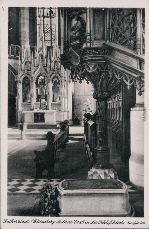 Ansichtskarte Lutherstadt Wittenberg Evangelische Schloßkirche 1953