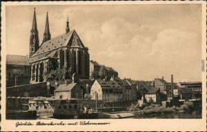 Görlitz Zgorzelec Blick auf die Peterskirche mit Wehrmauer 1940