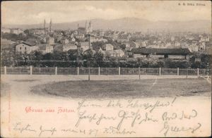 Ansichtskarte Zittau Platz - Blick auf die Stadt 1900