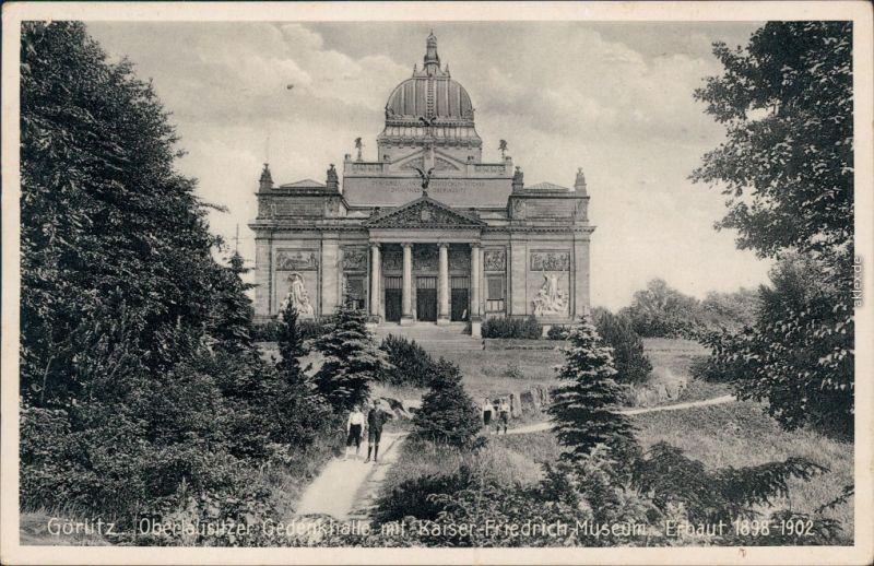 Görlitz Zgorzelec Oberlausitzer Gedenkhalle mit Kaiser Friedrich Museum 1937