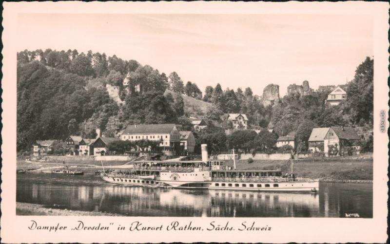 Ansichtskarte Rathen Sächsische Dampfschifffahrt (Weiße Flotte) 1960 0