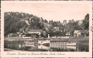 Ansichtskarte Rathen Sächsische Dampfschifffahrt (Weiße Flotte) 1960