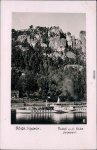 Rathen Sächsische Dampfschifffahrt Basteifelsen (Sächsische Schweiz) 1955