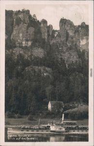 Rathen Basteifelsen, Sächsische Dampfschifffahrt (Weiße Flotte) 1931
