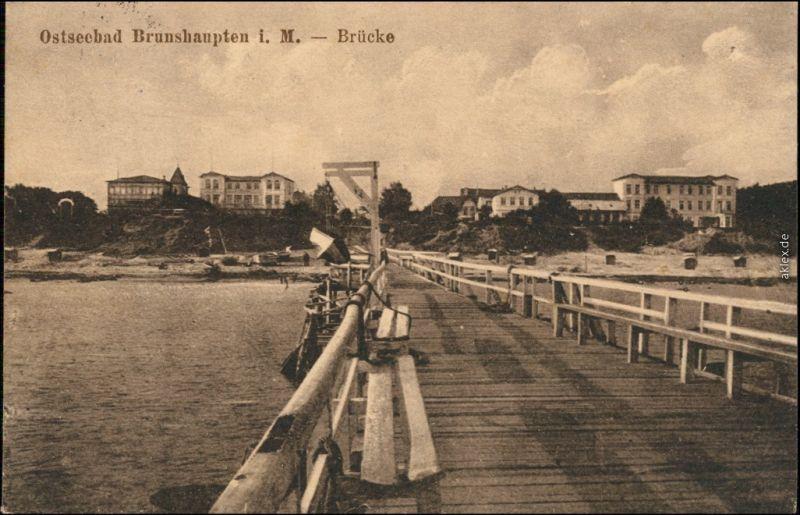 Brunshaupten-Kühlungsborn Blick auf die Hotels - Seebrücke 1919