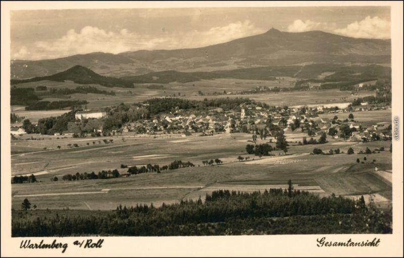 Wartenberg am Rollberg Stráž pod Ralskem Gesamtansicht 1935 Privatfoto