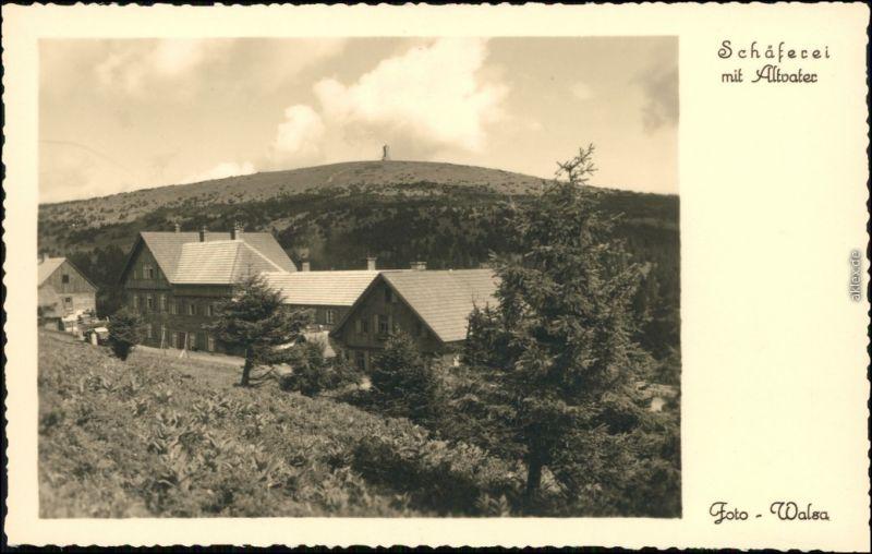 Ansichtskarte Freudenthal (Schlesien) Bruntál Schäferei im Altavater 1932