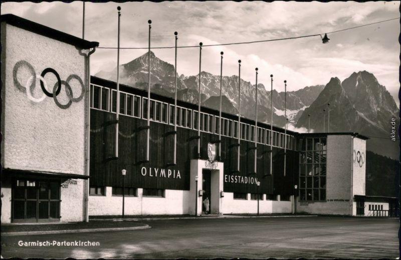 Ansichtskarte Garmisch-Garmisch-Partenkirchen Olympia Eisstadion 1972