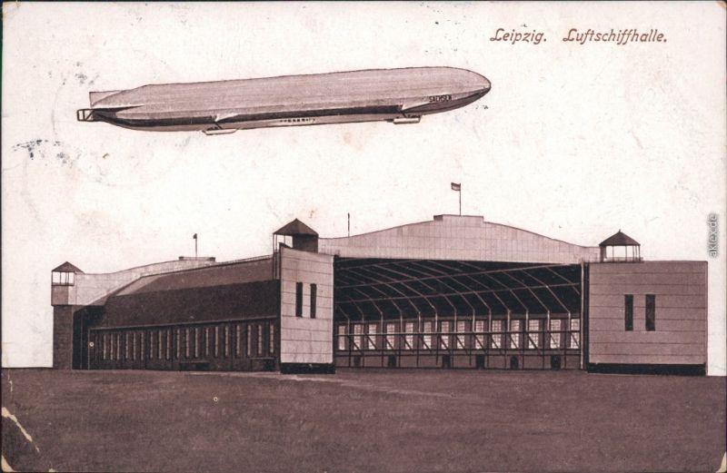 Ansichtskarte Mockau-Leipzig Luftschiffhalle - Zeppelin 1916