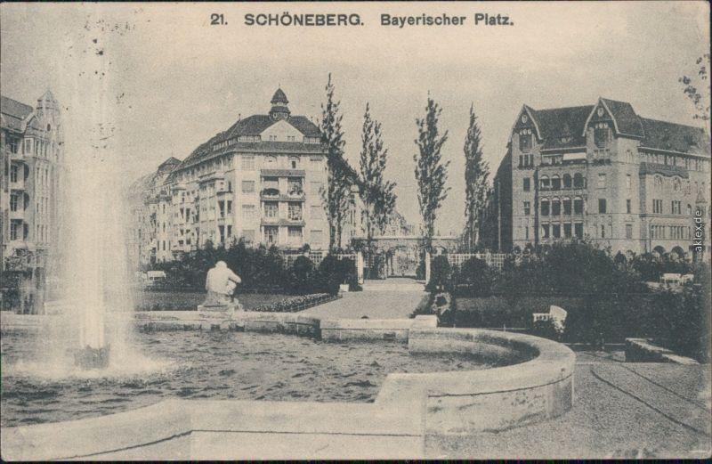 Schöneberg-Berlin Springbrunnen - Partie am Bayerischen Platz 1929