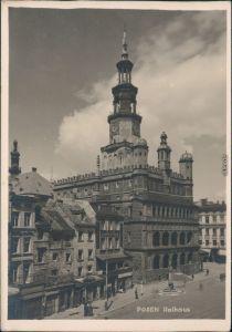 Ansichtskarte Posen Poznań Rathaus 1950