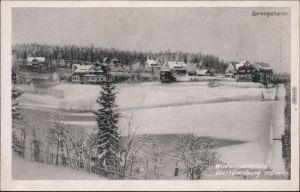 Ansichtskarte Oberbärenburg-Altenberg (Erzgebirge) Sprungschanze 1955