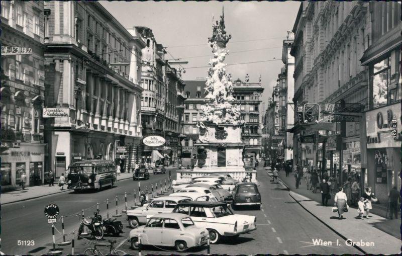 Ansichtskarte Wien Graben, Geschäfte, Autos 1940