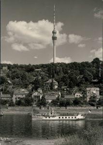 Pappritz-Dresden Fernsehturm, Sächsische Dampfschifffahrt (Weiße Flotte) 1962