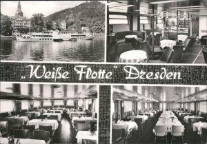 Dresden Weiße Flotte Innenansichten Foto Ansichtskarte g1976