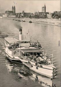 Ansichtskarte Magdeburg Weiße Flotte Magdeburg - Dampfer