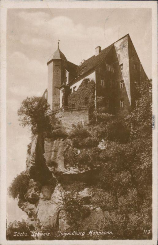 Hohnstein (Sächs. Schweiz) Burg Hohnstein (Sächsische Schweiz) - Jugendburg 1927