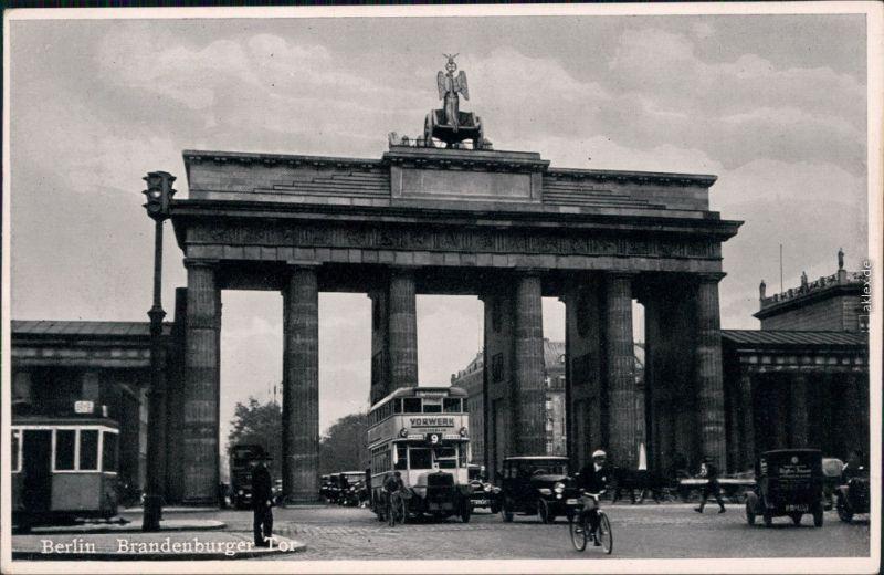 Ansichtskarte Mitte-Berlin Brandenburger Tor 1920