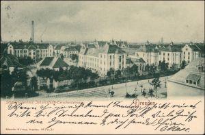 Ansichtskarte Johannstadt-Dresden Stadtkrankenhaus - Terscheckstrasse 1905