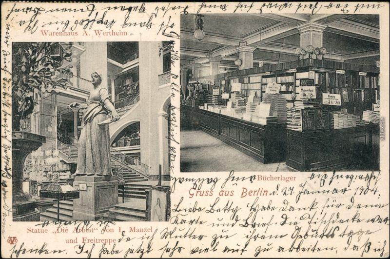 Mitte-Berlin 2 Bild Warenhaus Wertheim - Innen - Leipziger Straße 1904
