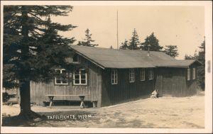 Neustadt an der Tafelfichte Nové Město pod Smrkem Gaststätte Fotokarte 1930