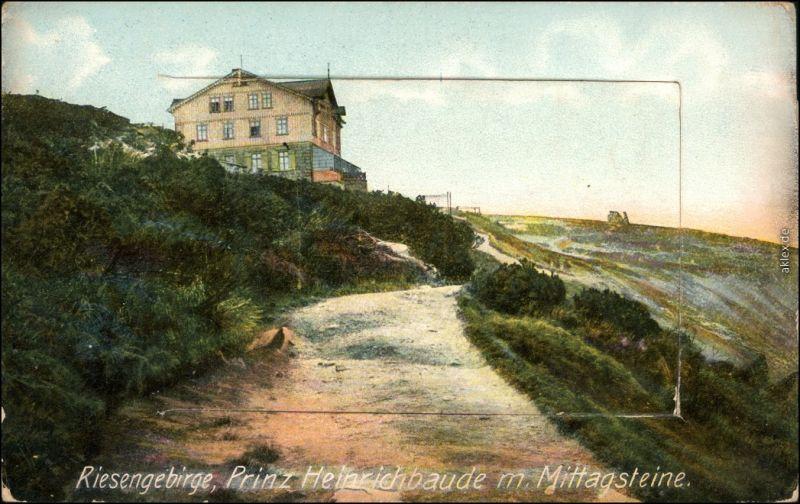 Leporello Krummhübel Karpacz Prinz-Heinrich-Baude Riesengebirge 1917