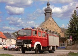 Ansichtskarte  Feuerwehr LF 16-TS bei Gera