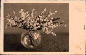 Ansichtskarte  Blumen in Vase Kunst Zeitgeschichte 1937